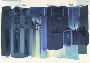 Background illustration for Ghost in the Shell by Hiromasa Ogura -® 1995 Shirow Masamune, KODANSHA -À BANDAI VISUAL -À MANGA ENTERTAINMENT Ltd