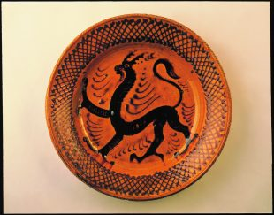 Bernard Leach Slipware Charger 1929 Earthenware with Galena glaze 460 x 100 mm © the estate of Bernard Leach Courtesy: The Wingfield Digby Collection