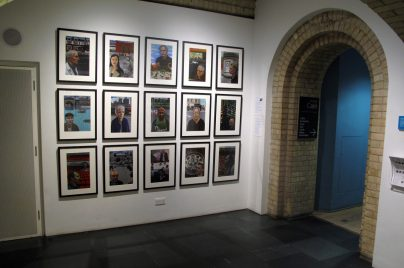 The portraits on display.