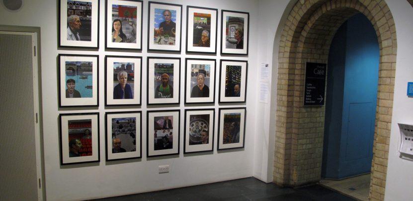The portraits on display.